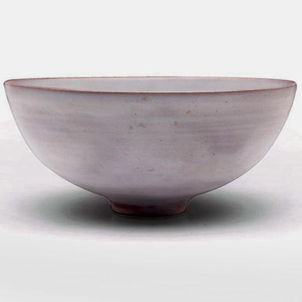 Natzler bowl, elegant flaring and footed shape