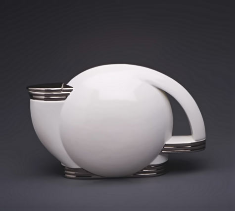 Paul Schreckengost Art Deco white pitcher