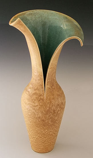 Judith Taylor vase with split flared  top