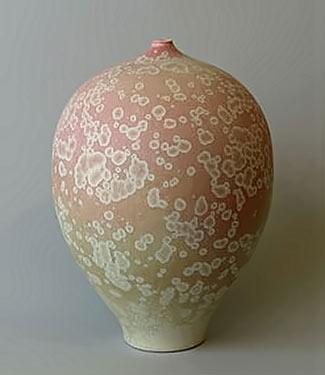 Hein Severijns crystalline glaze ovoid vessel