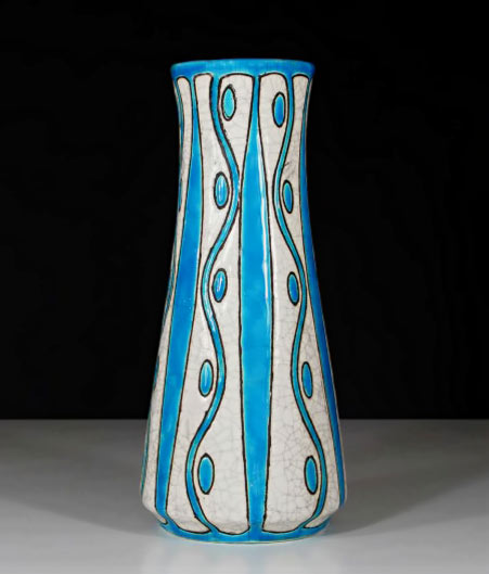 Crackle glaze Art Deco vase by Charles Catteau