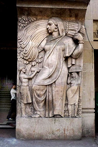 Bombay Art Deco wall relief