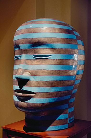 Striped head ny Jun Kaneko