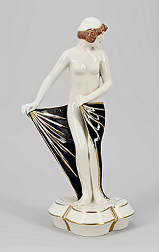 Art Deco Royal Dux Figurine nude female