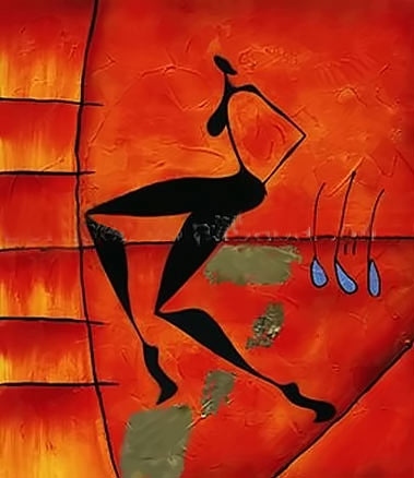 African dancer painting