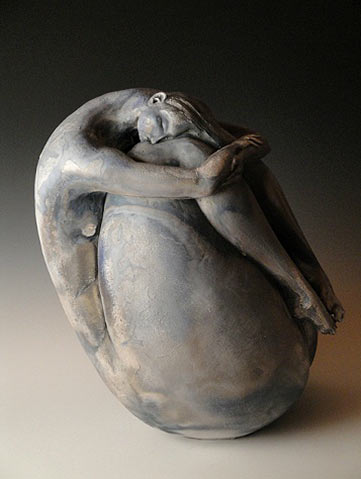 Anne Meyer Mama Moon - sculpture of a woman