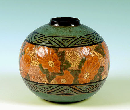 Henri GANDAI French Faience vase
