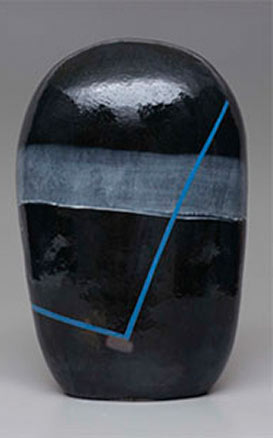 Dango sculpture in blues by Jun Kaneko