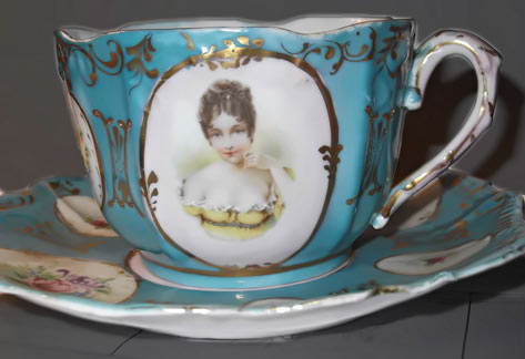 French Mustache cup & saucer
