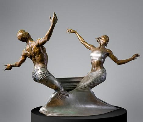 Paige-Bradley dancing couple sculpture