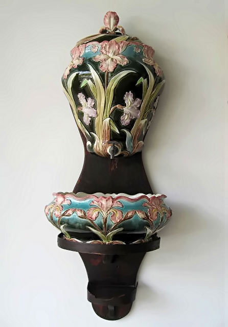 Majolica Water fountain and Jardiniere