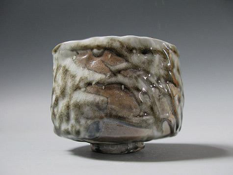 Stoneware Teabowl Shino Glaze