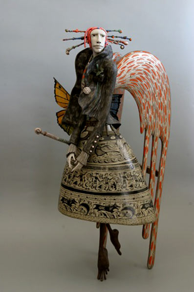 Marina Skidan ceramic angel figure