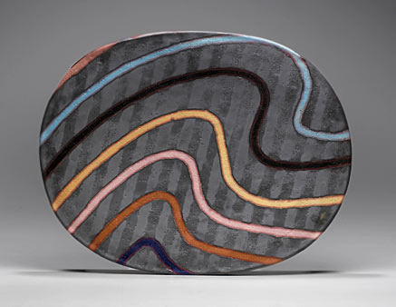 void dish by Jun Kaneko