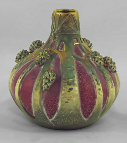 Paul Dachsel Purple Pine Cone Vase from Taplitz