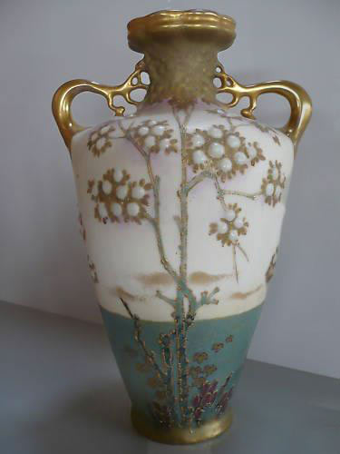 Art Nouveau vase with gold highlights