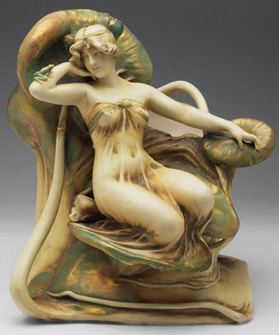 Water lily maiden vessel - art nouveau