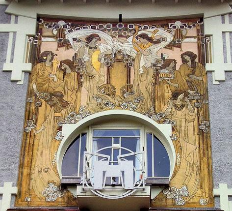 Ceramic Wall Art Art Nouveau Sgraffito Wall
