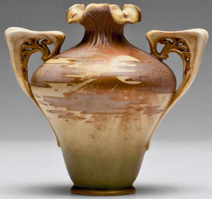Amphora-Paul-Daschel twin handled vase