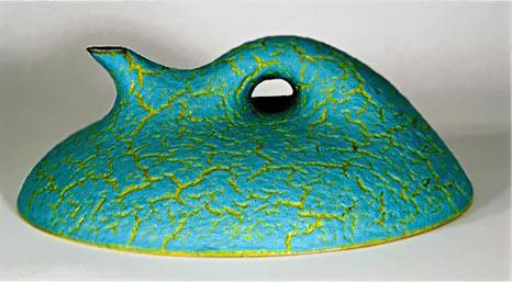 Rick Rudd turquoise biomorphic teapot