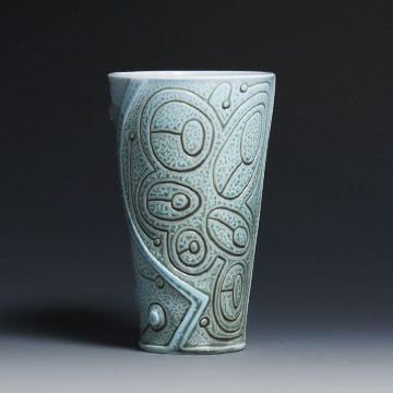 Contemporary pale blue tumbler by Ryan Mckenzie