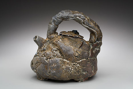 Cracked Clay teapot