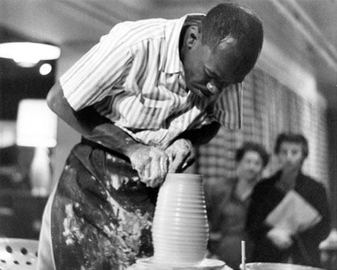 Doyle Lane making pottery