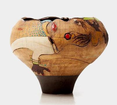 Africasso Stoneware vessel
