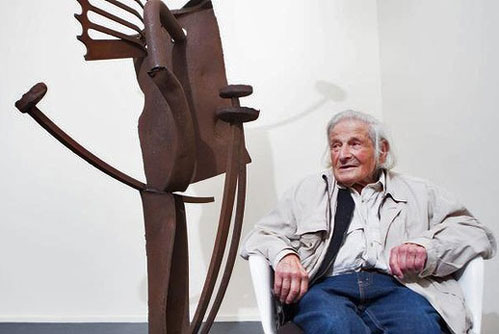 Edwin-Fabian centenarian abstract sculptor