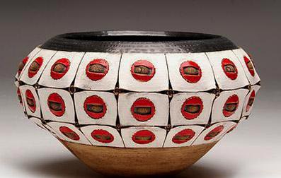 Cape Town Imiso Ceramics Stoneware coiled vase