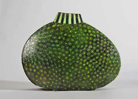 Kernig III by Ute Grossman Green contemporary vessel