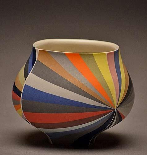 Peter-Pincus coloured striped vessel