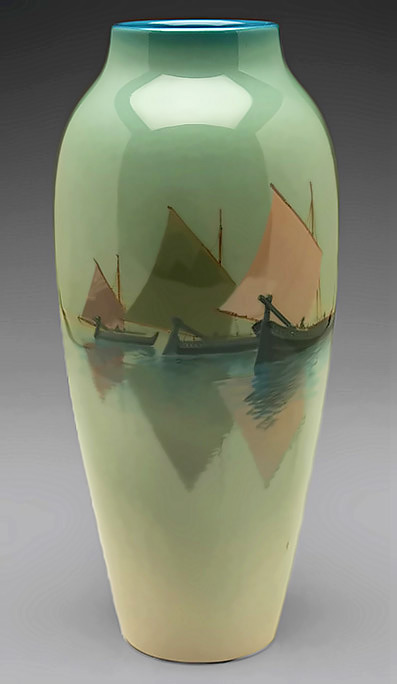 Rookwood vase - Venetian harbour