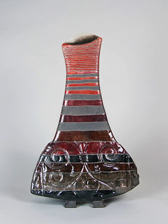 Abstract ceramic vase called Woman by Ute Grossman