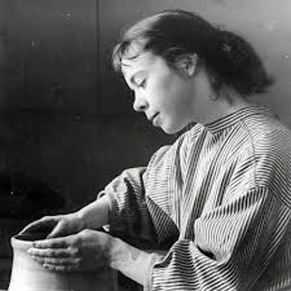 Karin Bjorquist pottery throwing at Gustavsberg