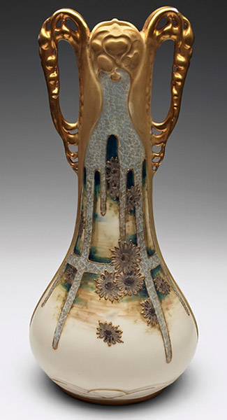 Amphora vase designed by Paul Dachsel