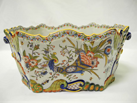 Antique Hand Painted French planter