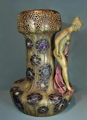 Large austrian Amphora ceramic vase