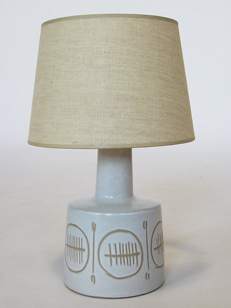Martz table lamp with sgraffito