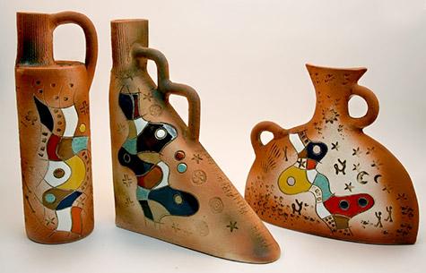 Miro inspired set of Vases