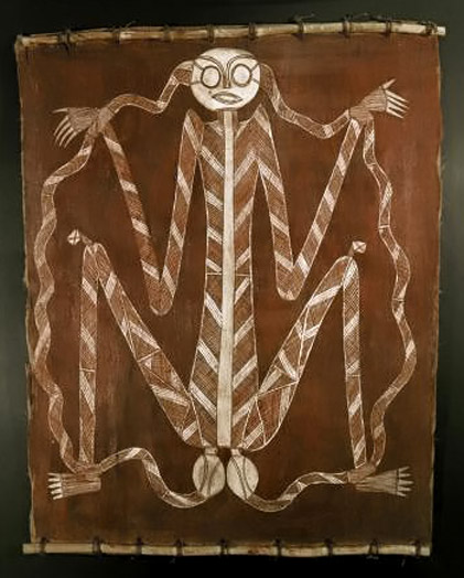 bark-painting-lightning-man Australian aboriginal