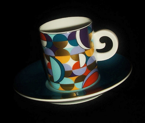 SPAL-Paradox cubist ceramic cup and saucer