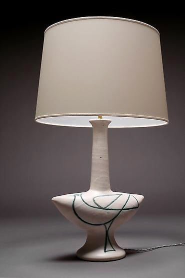 Suzanne Ramie glazed ceramic table lamp