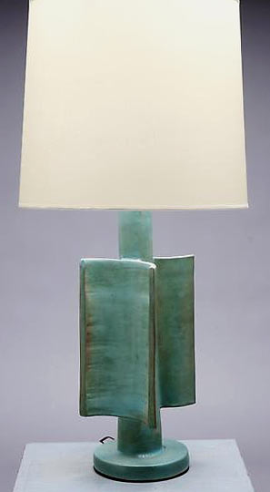 Suzanne Ramie Glazed Ceramic Lamp