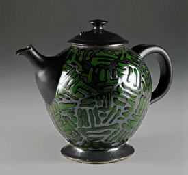 black-green-teapot