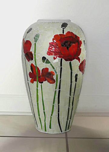 vase with pansy flowers