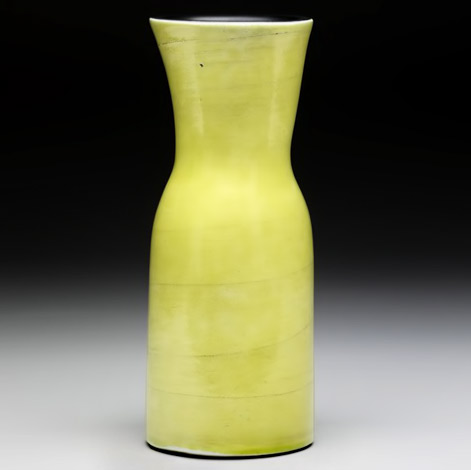 Georges-Jouve, lime green vase