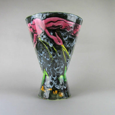 Vallauris-French-design-ceramic footed vessel
