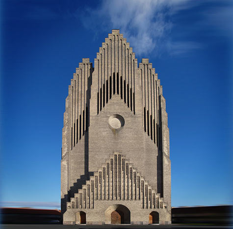 Grundtvig's Church in Denmark