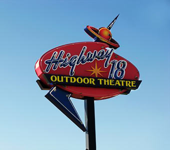 Neon Outdoor Theatre Sign